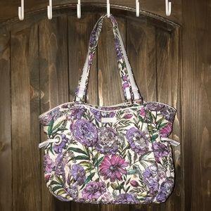 Lavender Meadow Vera Bradley Glenna satchel